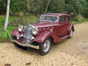 1936 Triumph Gloria Vitesse For Sale In Landford, Wiltshire