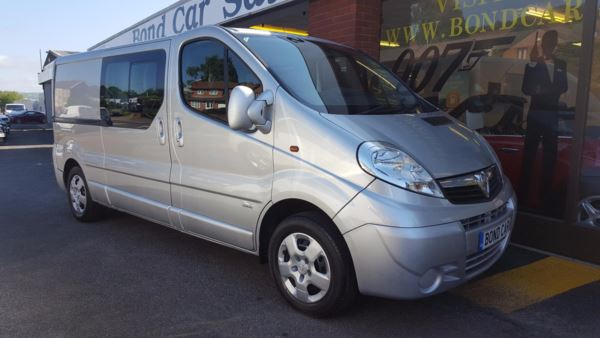 2011 (11) Vauxhall Vivaro 2.5CDTI [146PS] Doublecab 2.9t Auto (6 Seater) Diesel For Sale In Swansea, Glamorgan