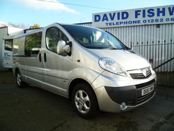 2011 (61) Vauxhall Vivaro 2.0 CDTi 115 Sportive Double Cab For Sale In Colne, Lancashire