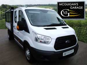 2017 (66) Ford Transit 350 , L3 / H1 , Double Cab , 1-Way Tipper , RWD , DRW , TDCi 125ps For Sale In Swatragh, County Derry